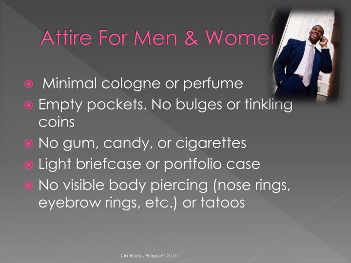 Attire For Men & Women