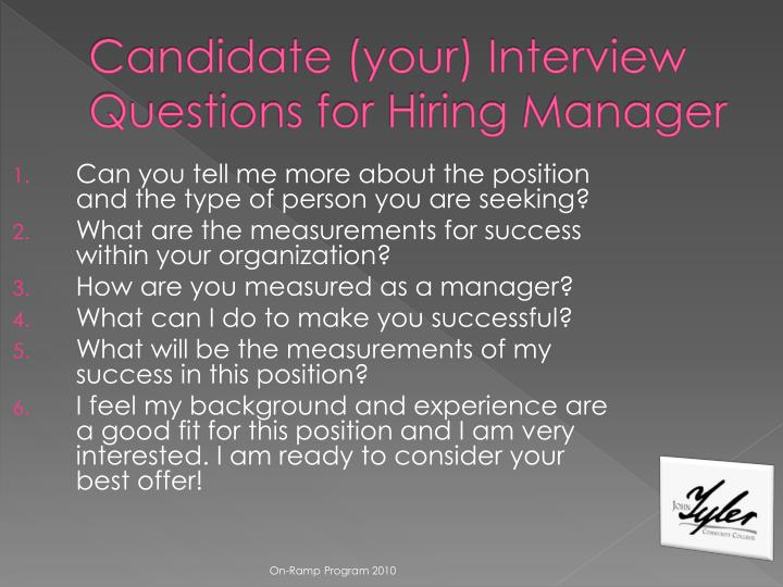 Can you tell me more about the position and the type of person you are seeking?