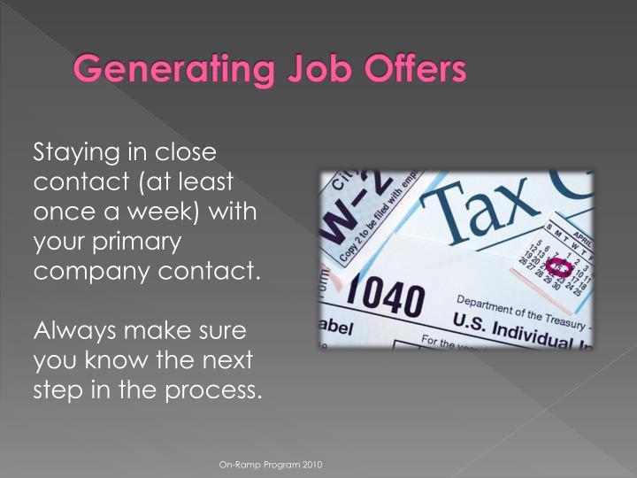 Generating Job Offers