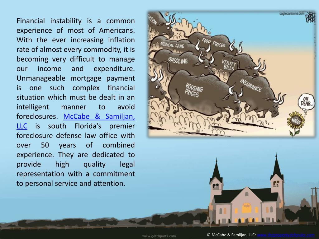 Financial instability is a common experience of most of Americans. With the ever increasing inflation rate of almost every commodity, it is becoming very difficult to manage our income and expenditure. Unmanageable mortgage payment is one such complex financial situation which must be dealt in an intelligent manner to avoid foreclosures.