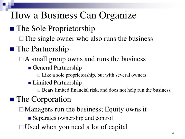 How a Business Can Organize