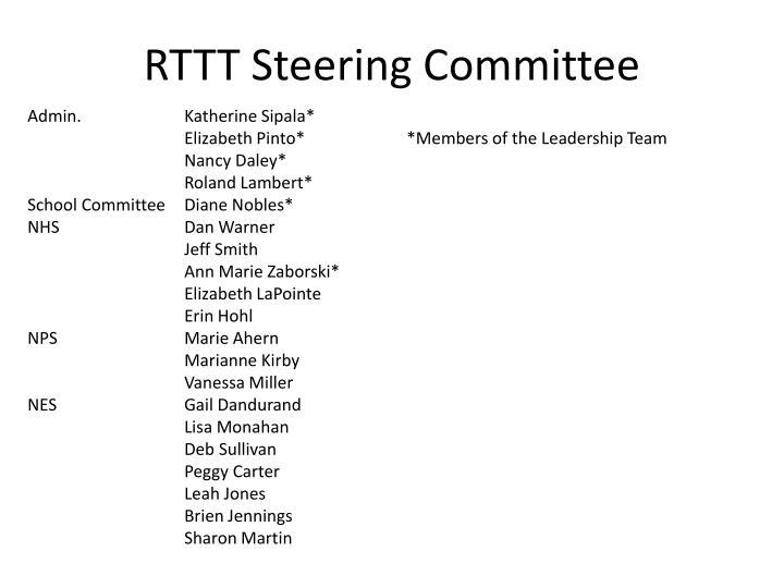 RTTT Steering Committee