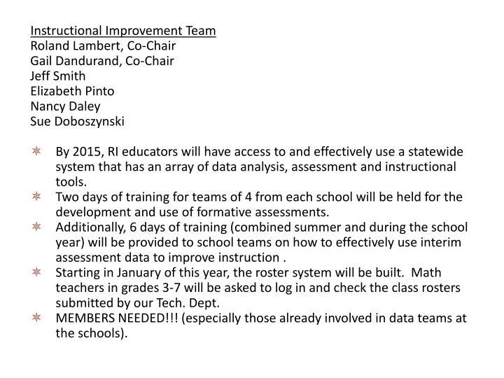 Instructional Improvement Team