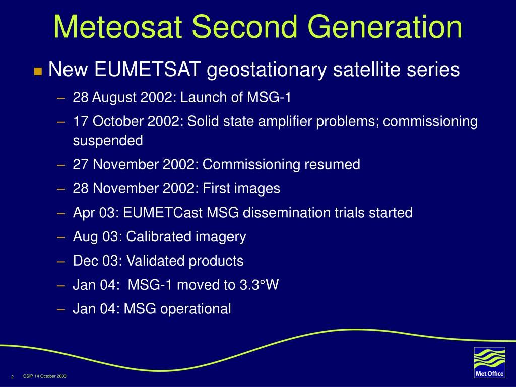 Meteosat Second Generation