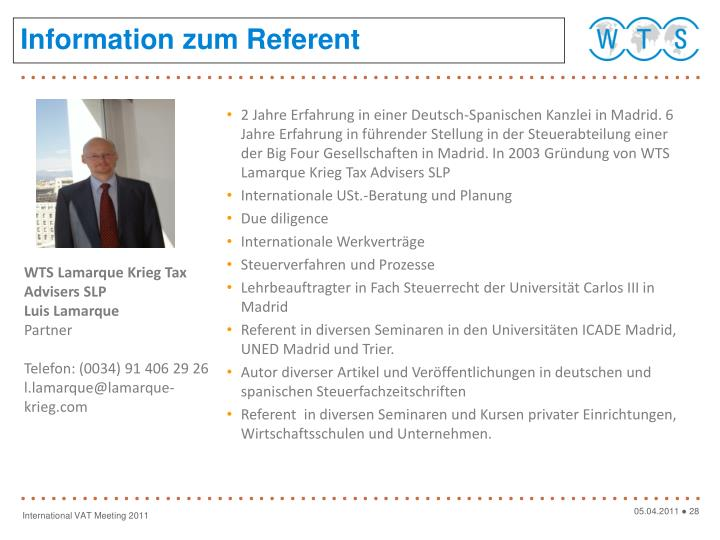 Information zum Referent