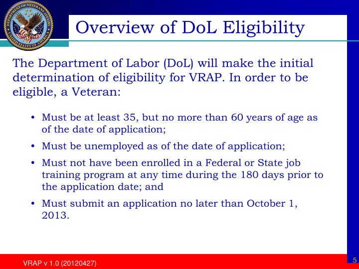 Overview of DoL Eligibility