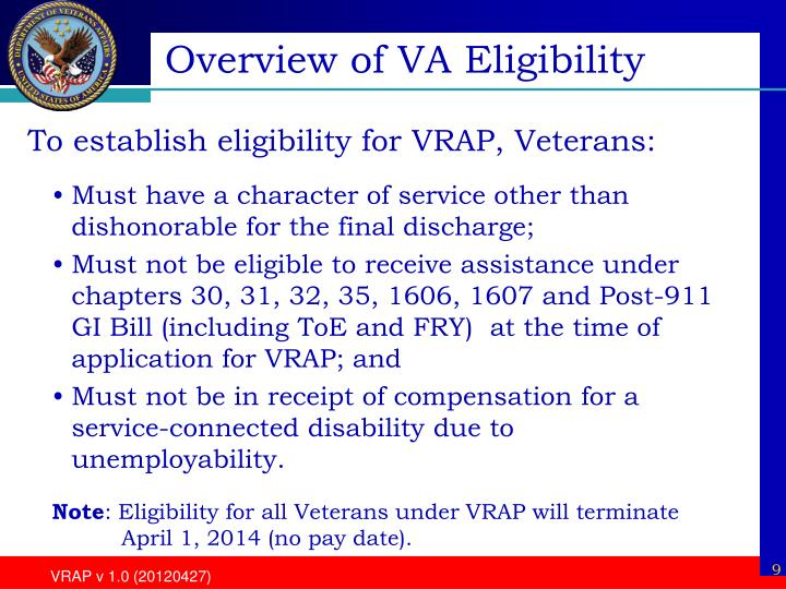 Overview of VA Eligibility