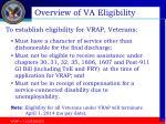 overview of va eligibility