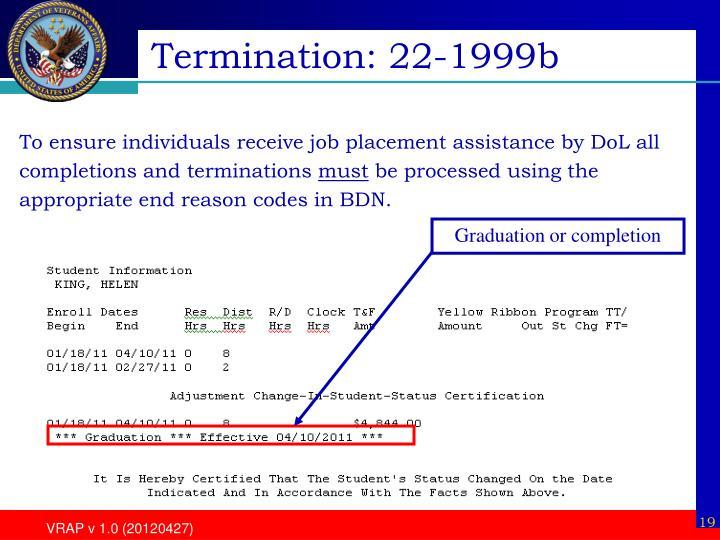 Termination: 22-1999b