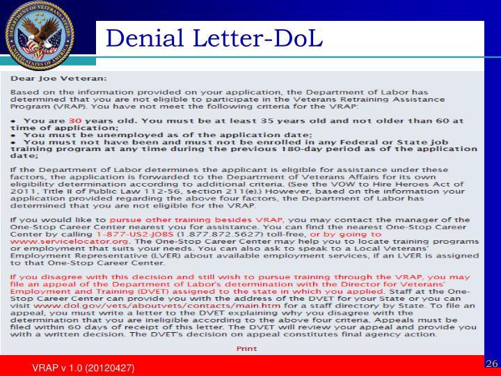 Denial Letter-DoL