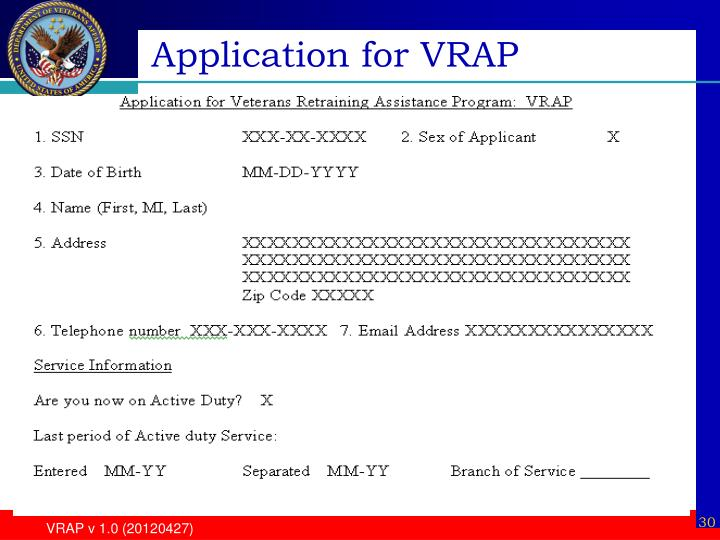 Application for VRAP