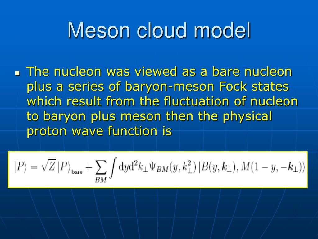 Meson cloud model