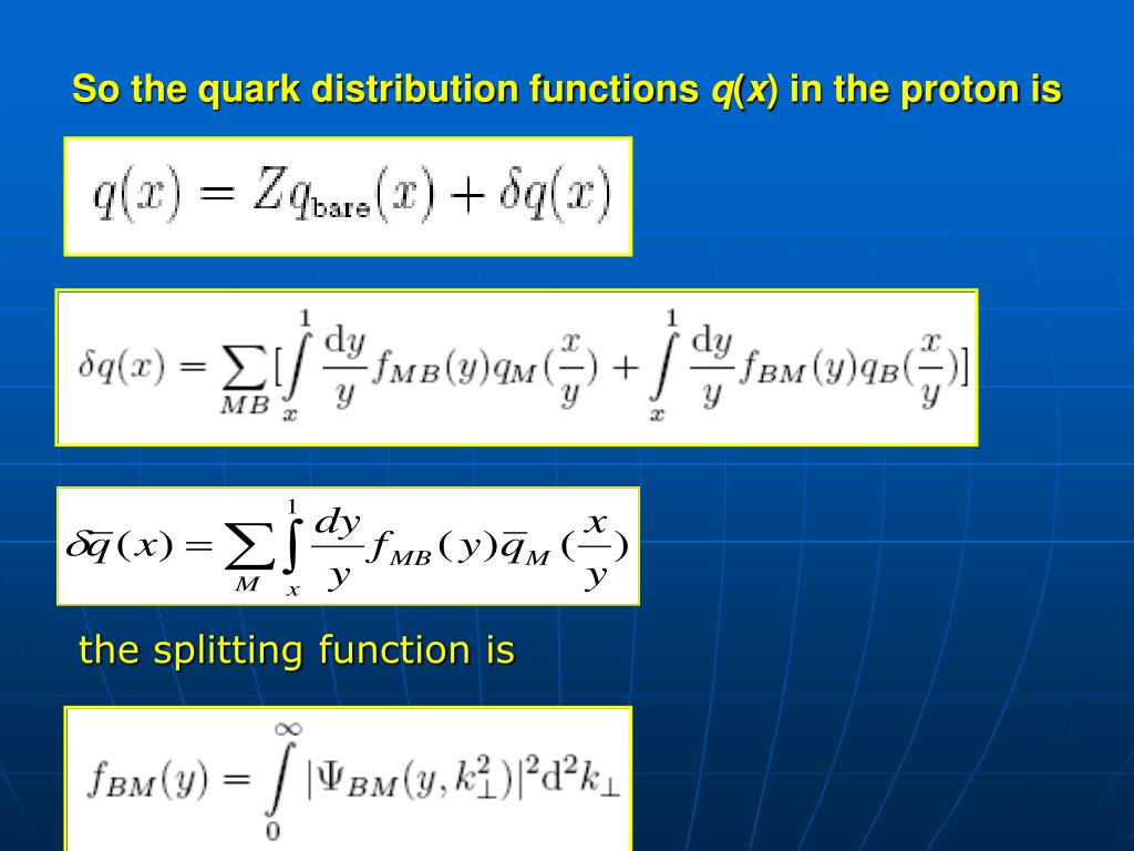 So the quark distribution functions