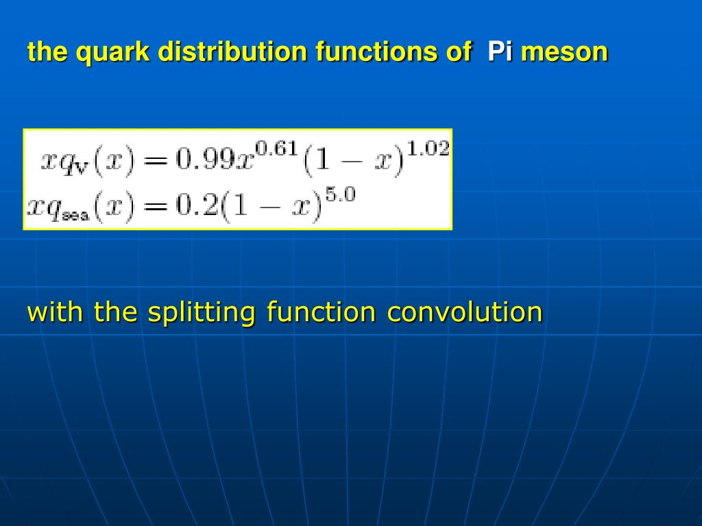 the quark distribution functions of
