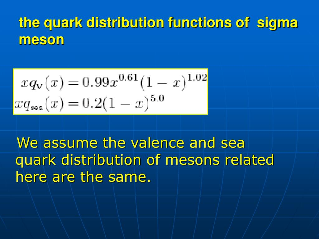the quark distribution functions of  sigma meson