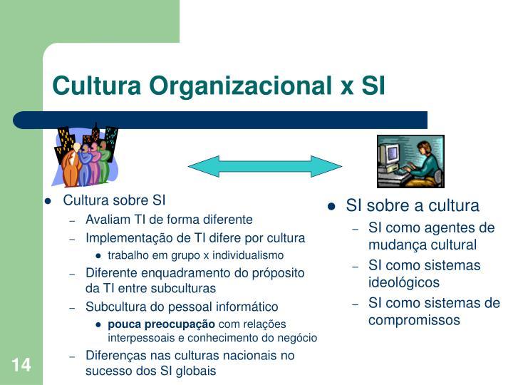 Cultura sobre SI