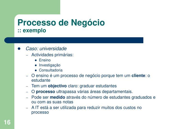 Processo de Negócio