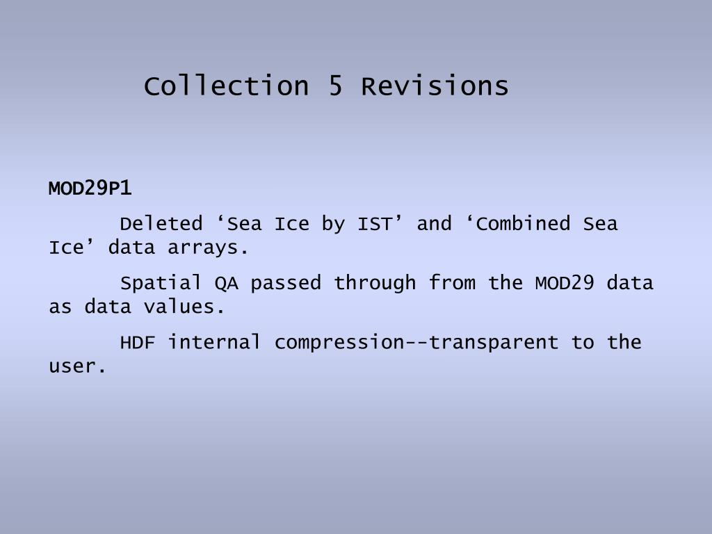 Collection 5 Revisions