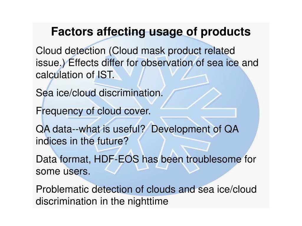 Factors affecting usage of products