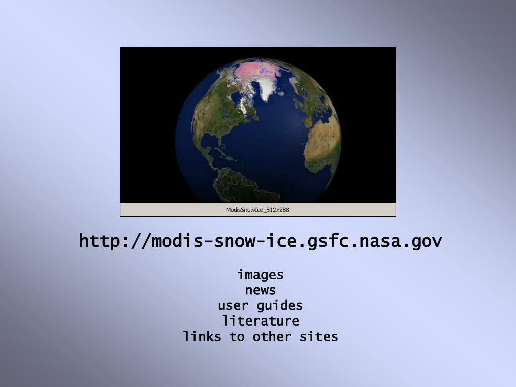 http://modis-snow-ice.gsfc.nasa.gov