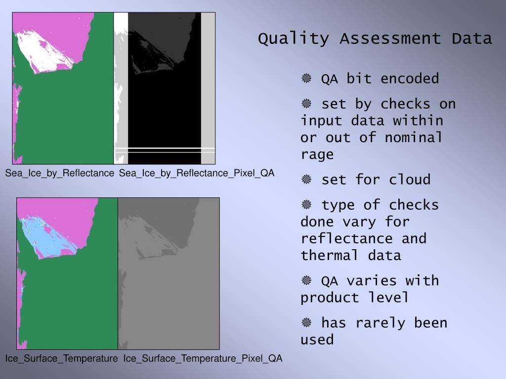 Quality Assessment Data