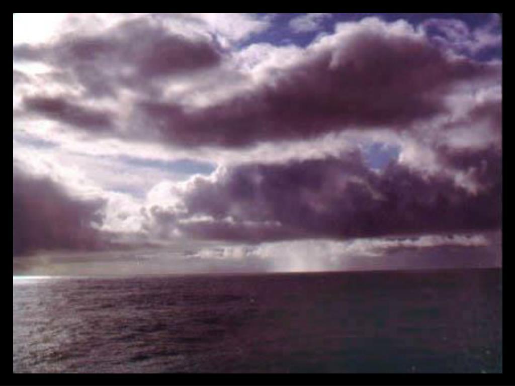 8. Open ocean and dark sky