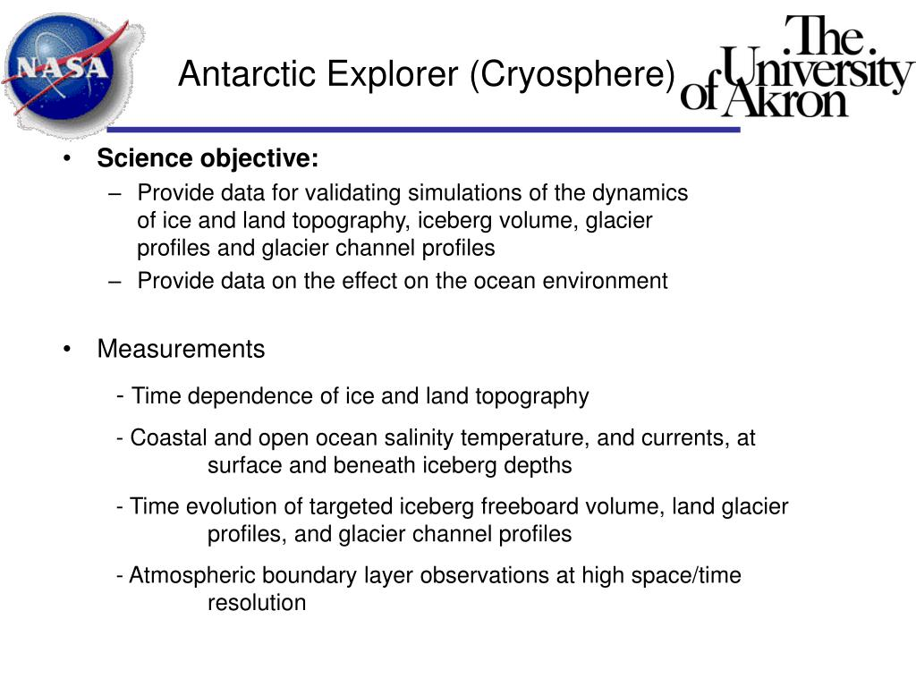 Antarctic Explorer (Cryosphere)