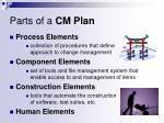 parts of a cm plan