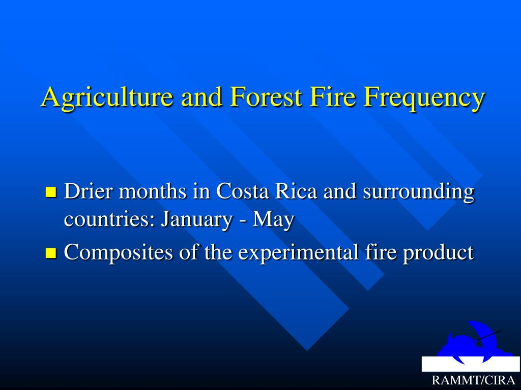 Agriculture and Forest Fire Frequency