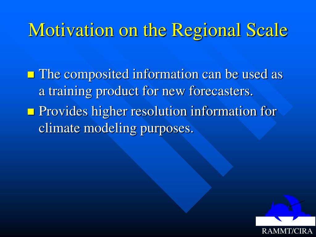 Motivation on the Regional Scale