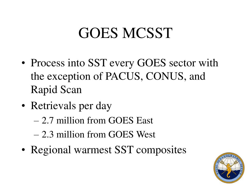 GOES MCSST