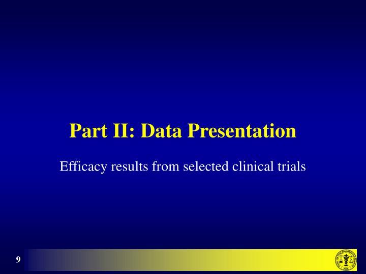 Part II: Data Presentation