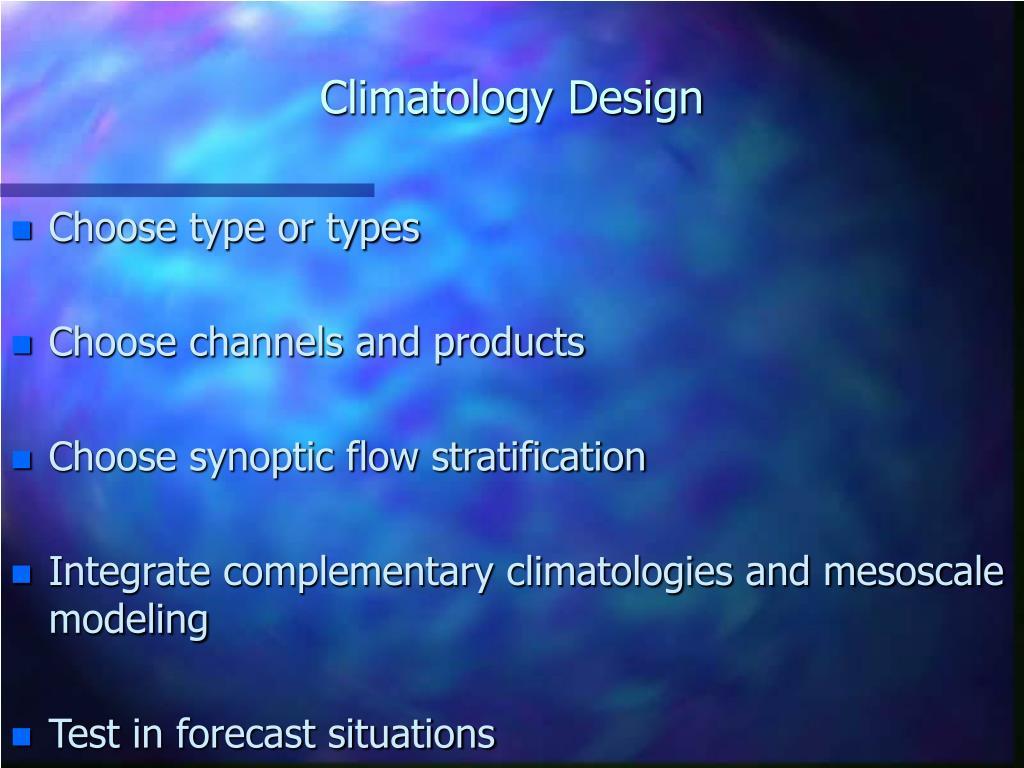 Climatology Design