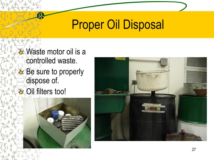 Ppt lubrication system powerpoint presentation id 839588 for How do you dispose of motor oil