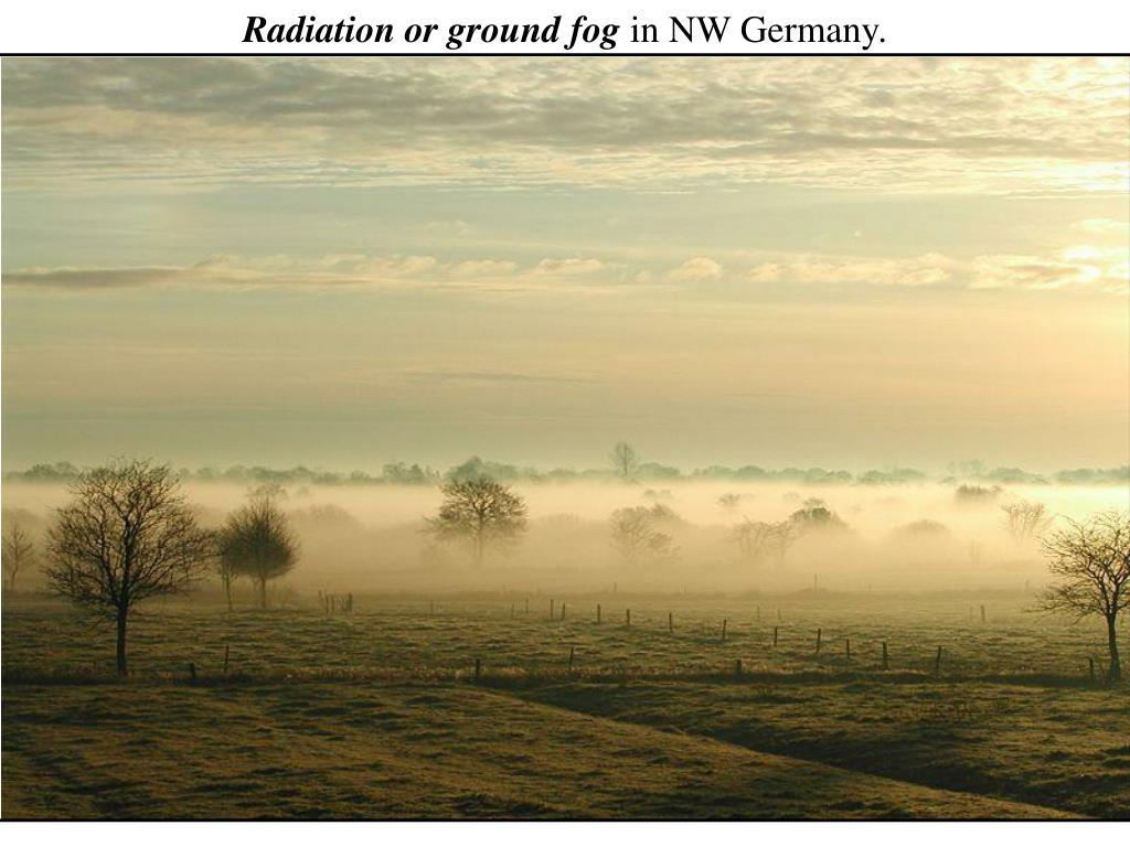 Radiation or ground fog