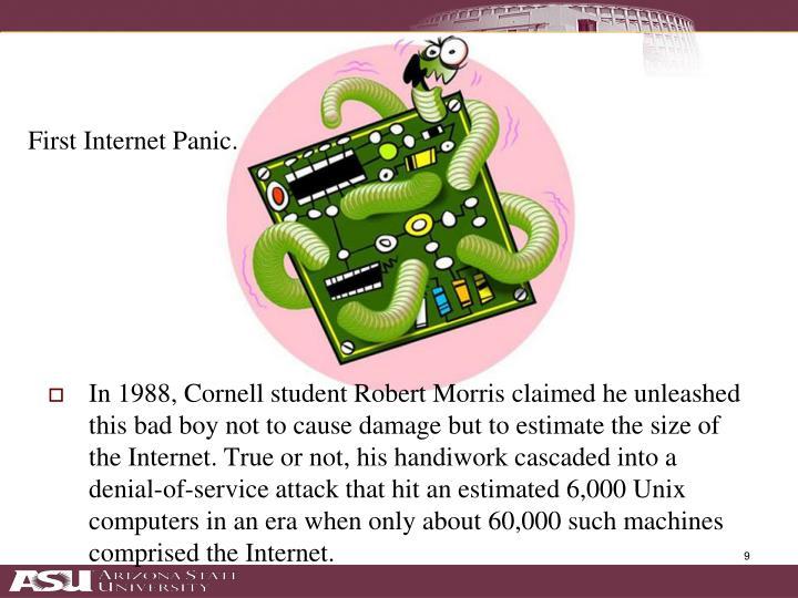 First Internet Panic.