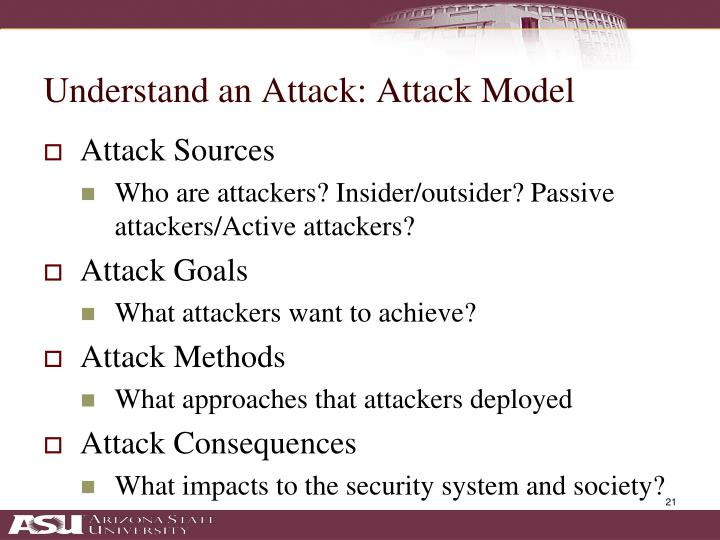 Understand an Attack: Attack Model