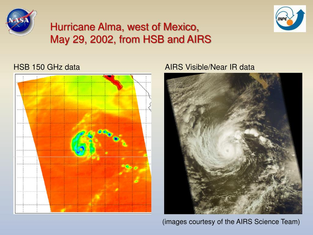 Hurricane Alma, west of Mexico,