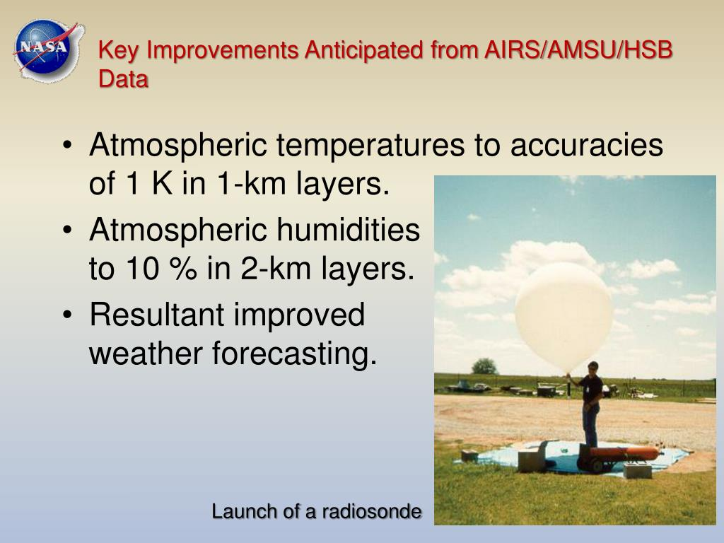 Key Improvements Anticipated from AIRS/AMSU/HSB Data