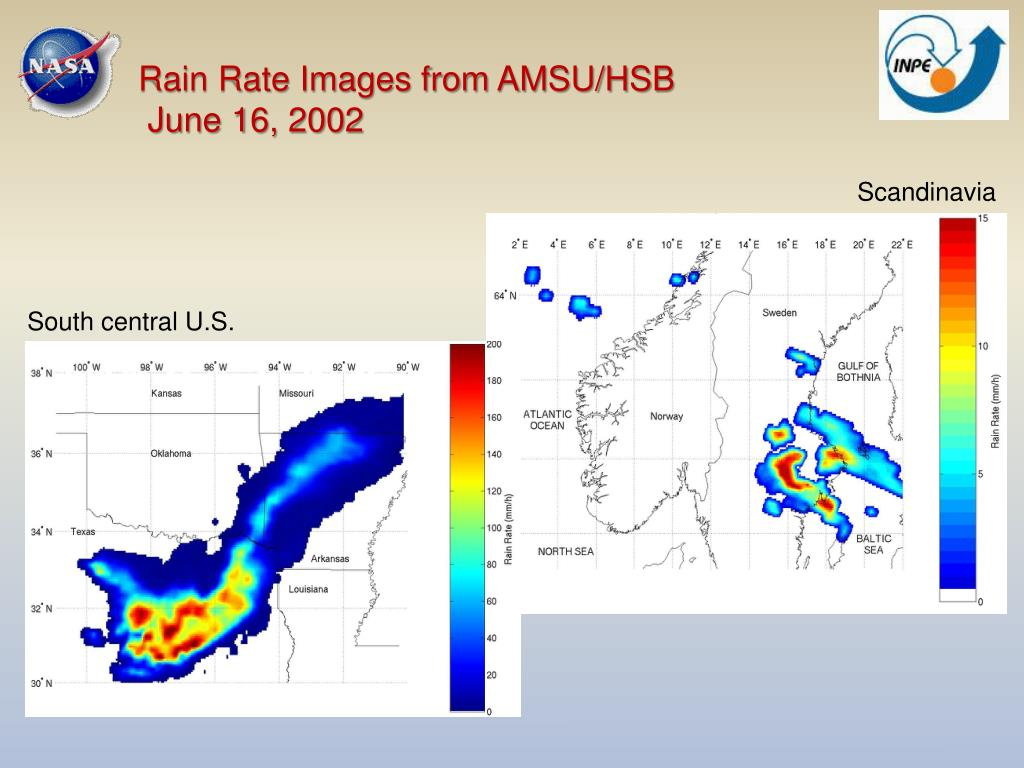 Rain Rate Images from AMSU/HSB