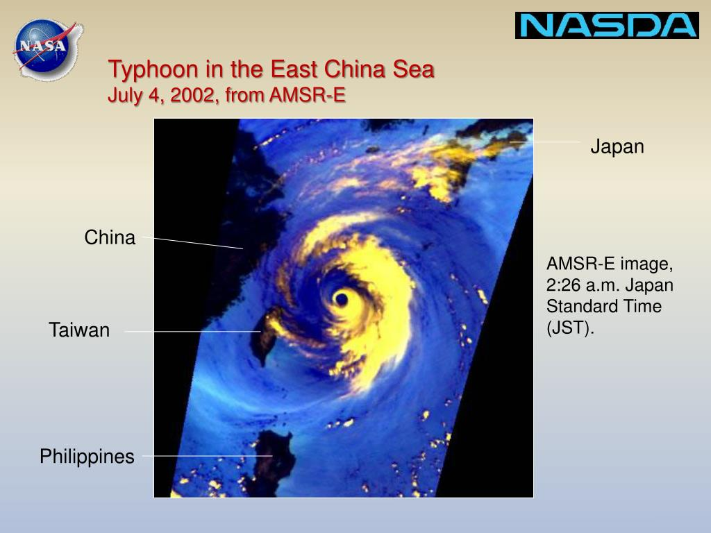 Typhoon in the East China Sea