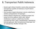 b transportasi publik indonesia