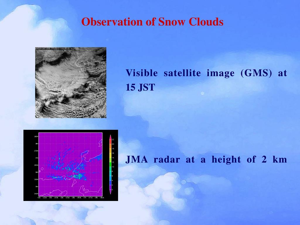 Observation of Snow Clouds