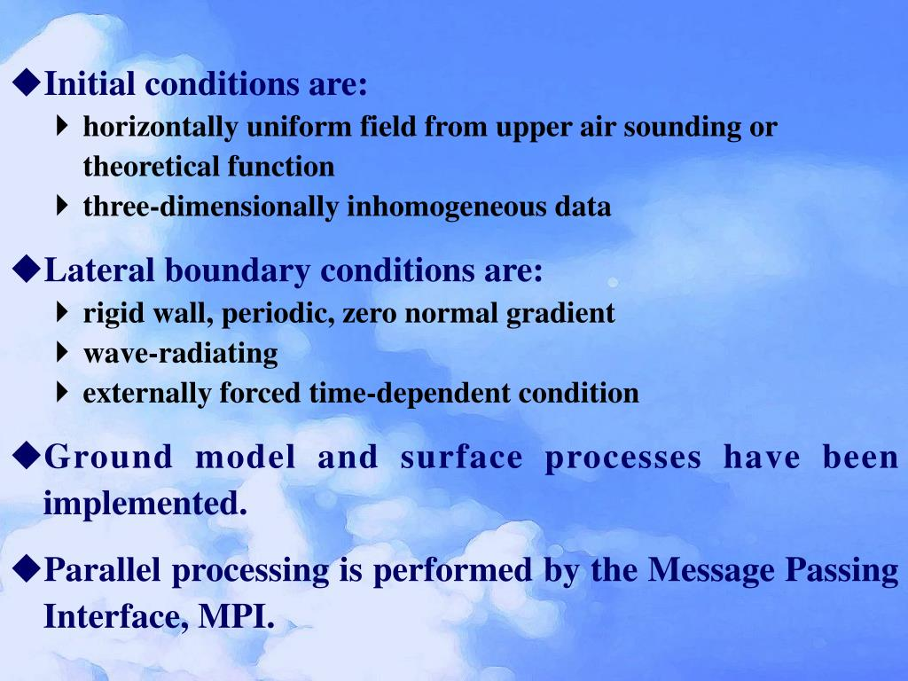 Initial conditions are: