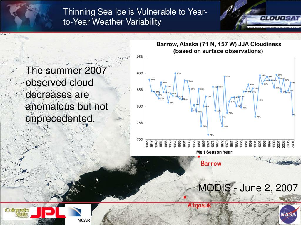 Thinning Sea Ice is Vulnerable to Year-to-Year Weather Variability