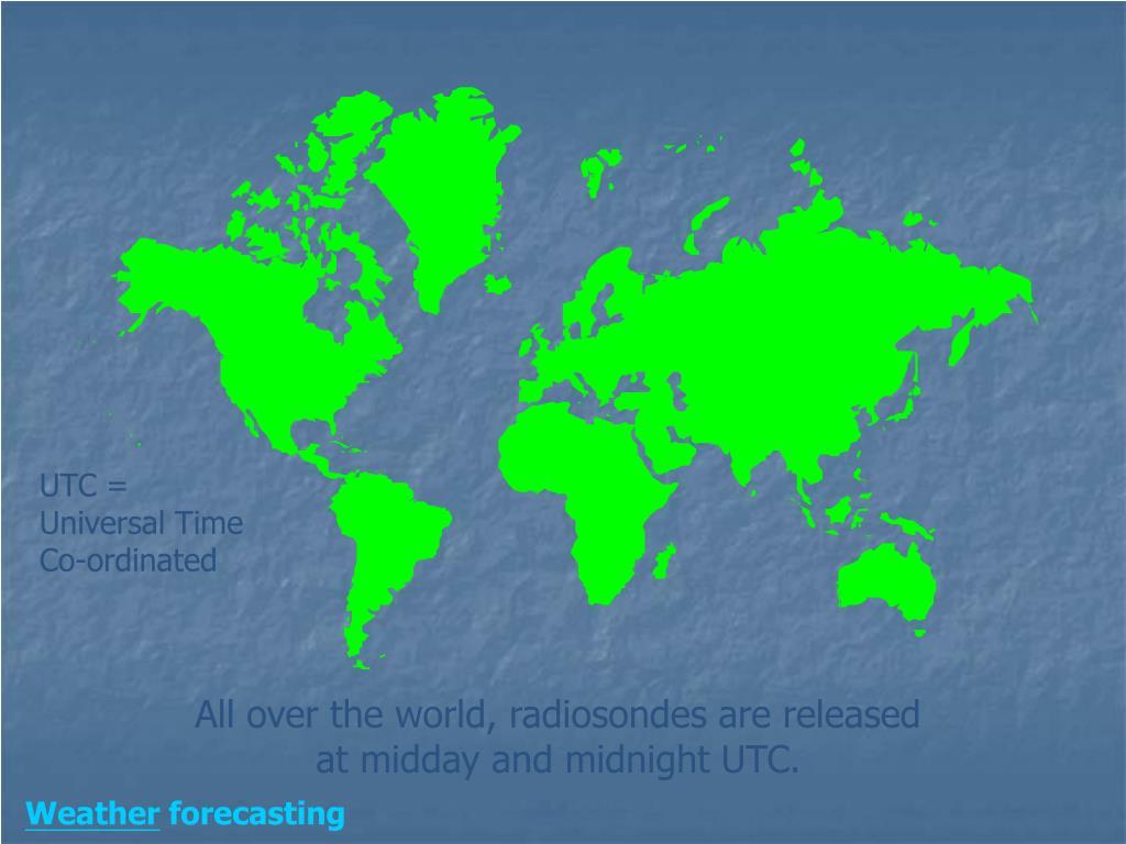 UTC = Universal Time Co-ordinated