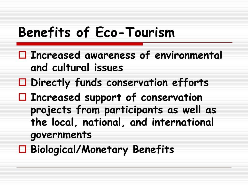 Benefits of Eco-Tourism