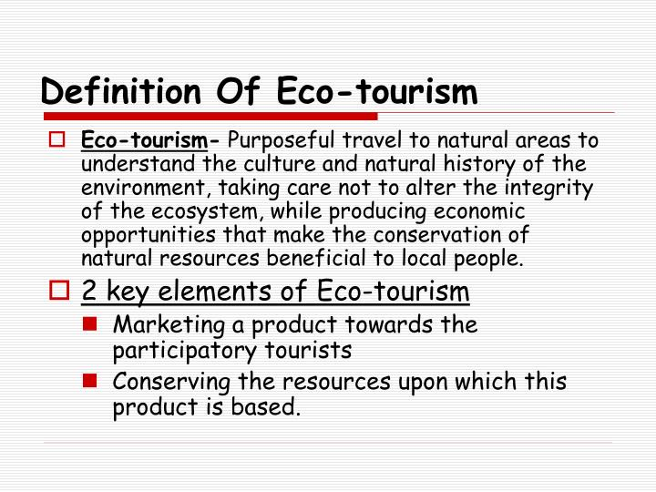 Definition of eco tourism