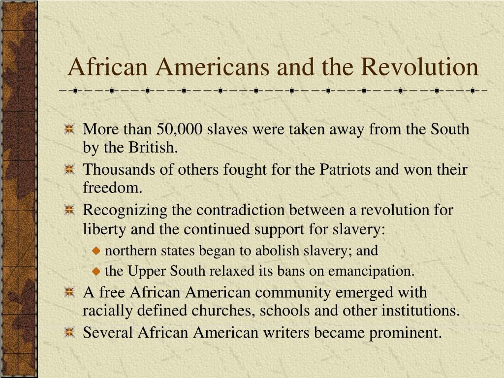 African Americans and the Revolution