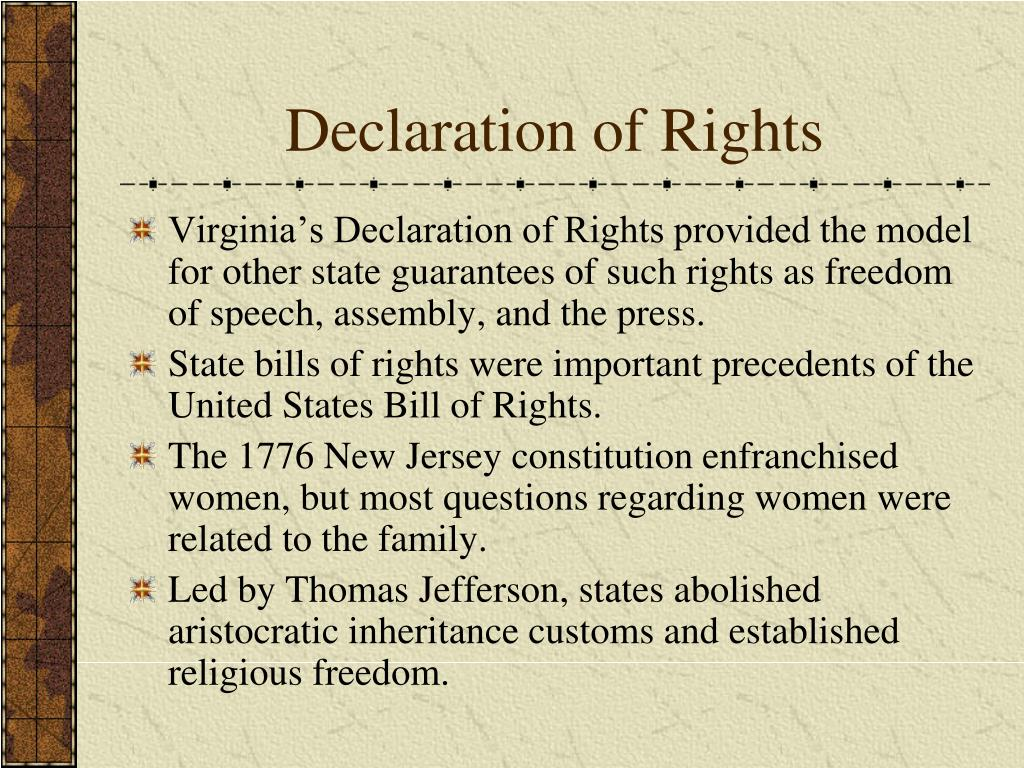 Declaration of Rights